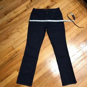 RL navy dark jeans sz 4 100% cotton skinny NWOT